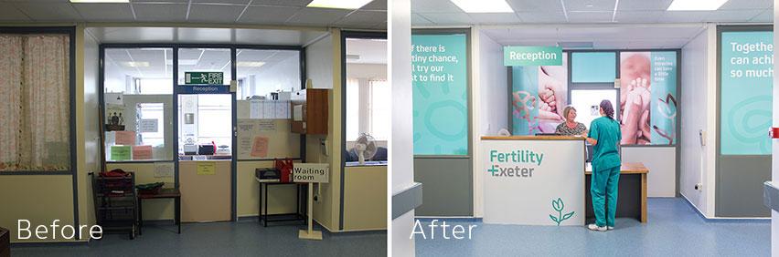 D2 Creative - NHS Re-Brand Fertility Exeter